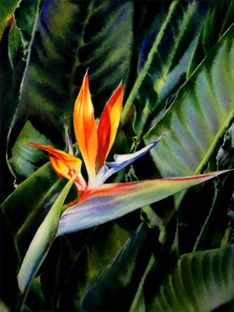 """Jungle Fire"" original fine art by Arena Shawn"