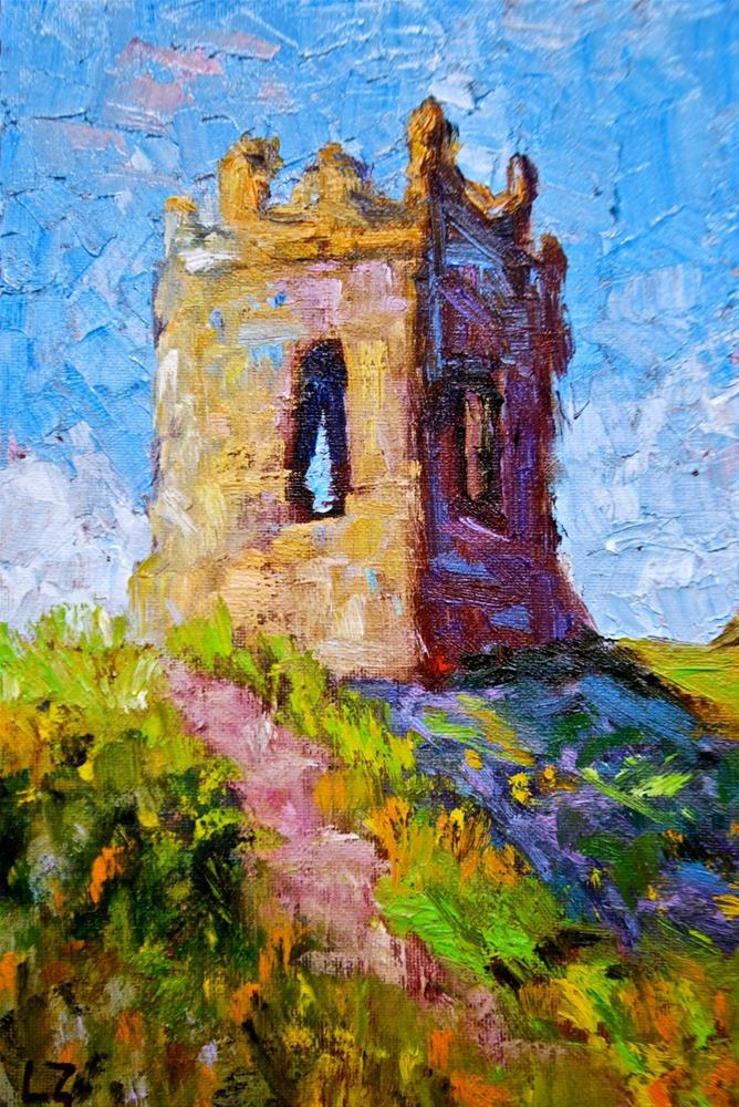 """Irish Ruins"" original fine art by Liz Zornes"