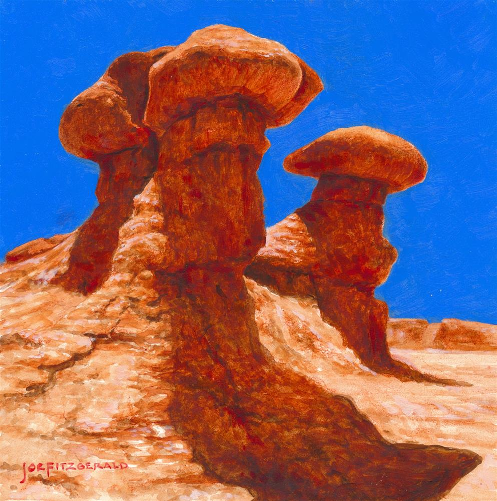 """Valley of the Goblins - Utah II"" original fine art by Joe Fitzgerald"