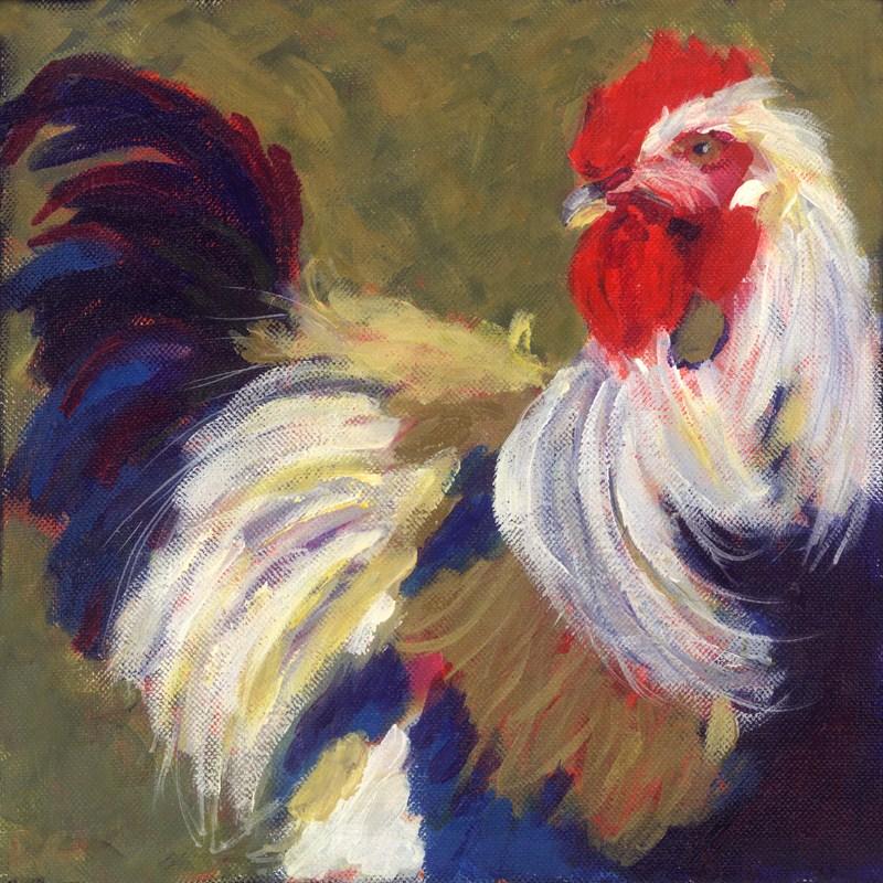 """Ramblin' Rooster"" original fine art by Pamela Gatens"