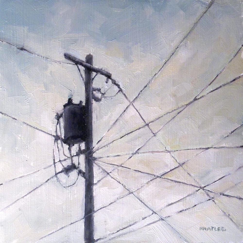 """Intersecting Wires"" original fine art by Michael Naples"