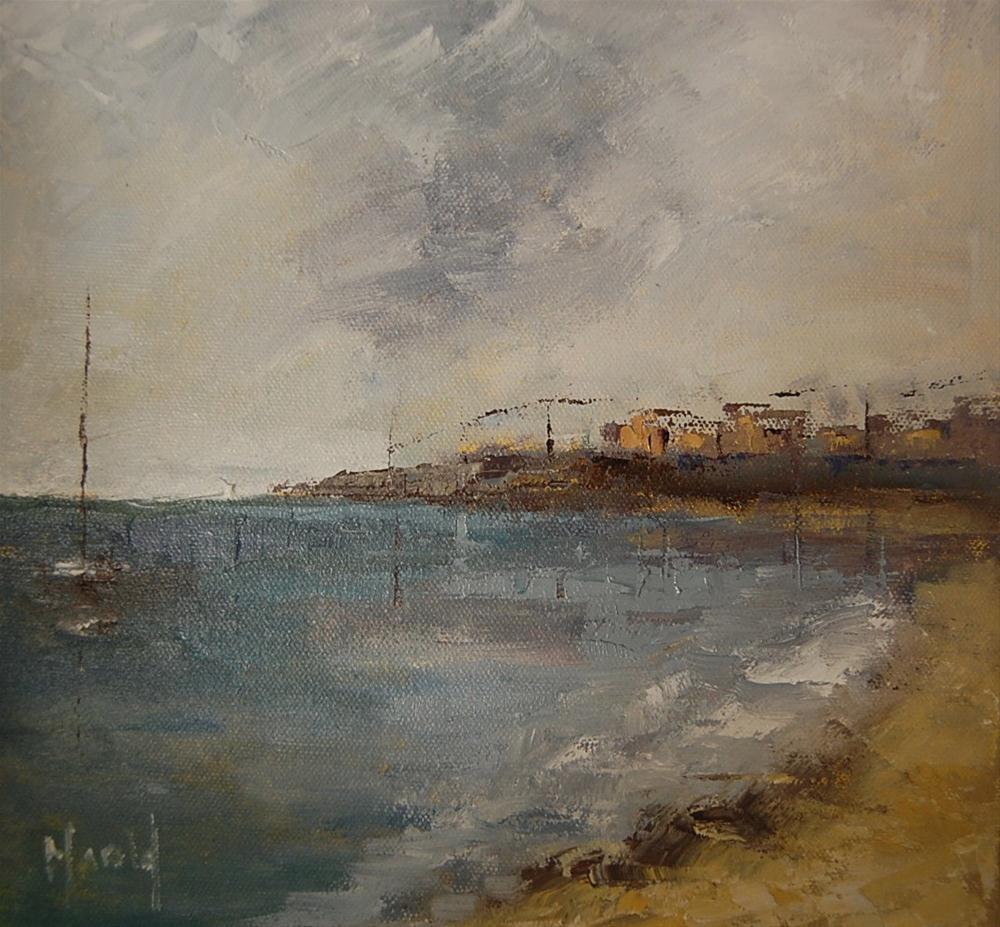 """Beach Study 3"" original fine art by Deborah Harold"