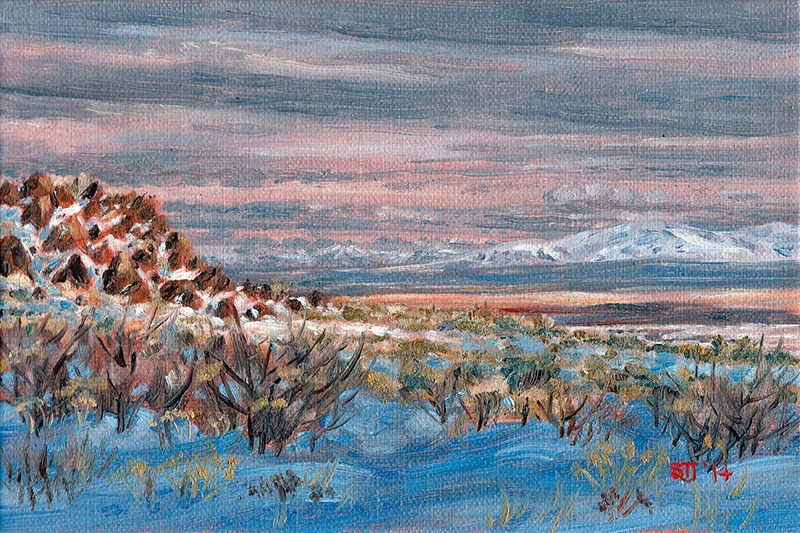 """C1586 Forty Miles of High Desert (Hart Mountain National Antelope Refuge, Oregon High Desert)"" original fine art by Steven Thor Johanneson"