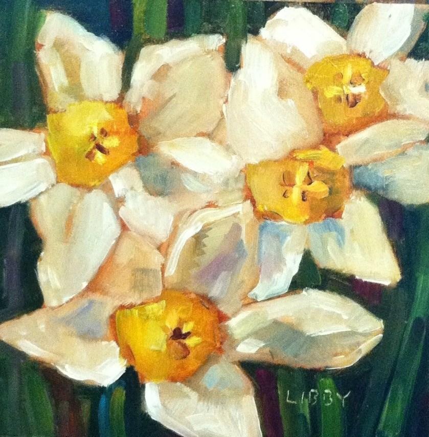 """Daffodil Days"" original fine art by Libby Anderson"