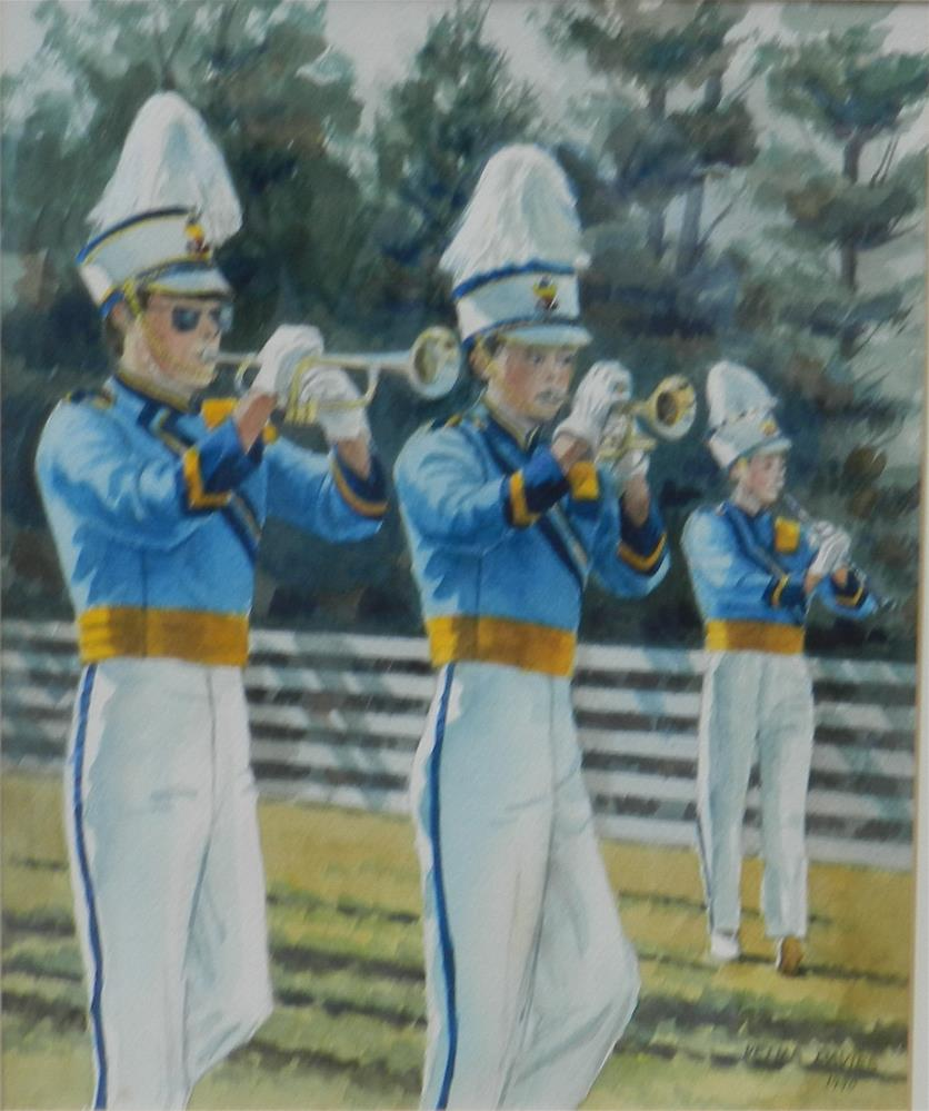 """Brentwood Band"" original fine art by Velma Davies"