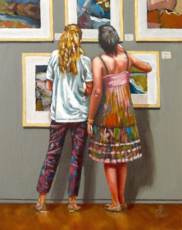 """Gallery Girls"" original fine art by Alix Baker"