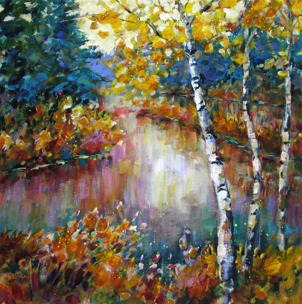 """River Secrets"" original fine art by Melissa Gannon"