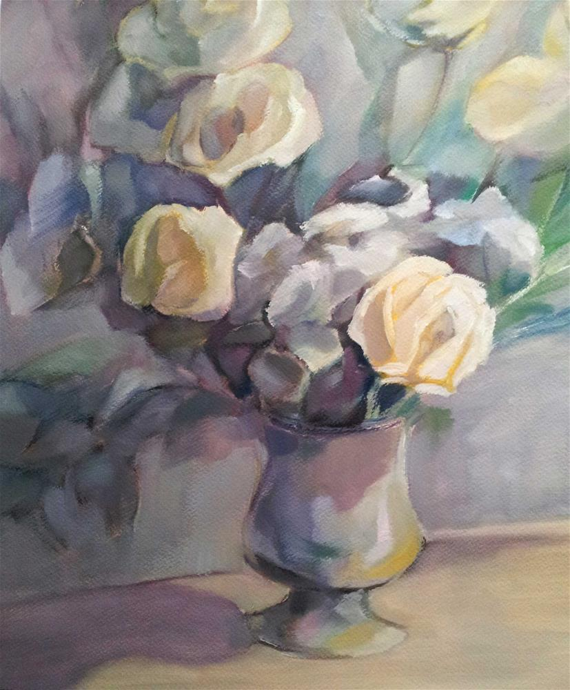 """Bouquet of yellow roses"" original fine art by Olga Touboltseva-Lefort"