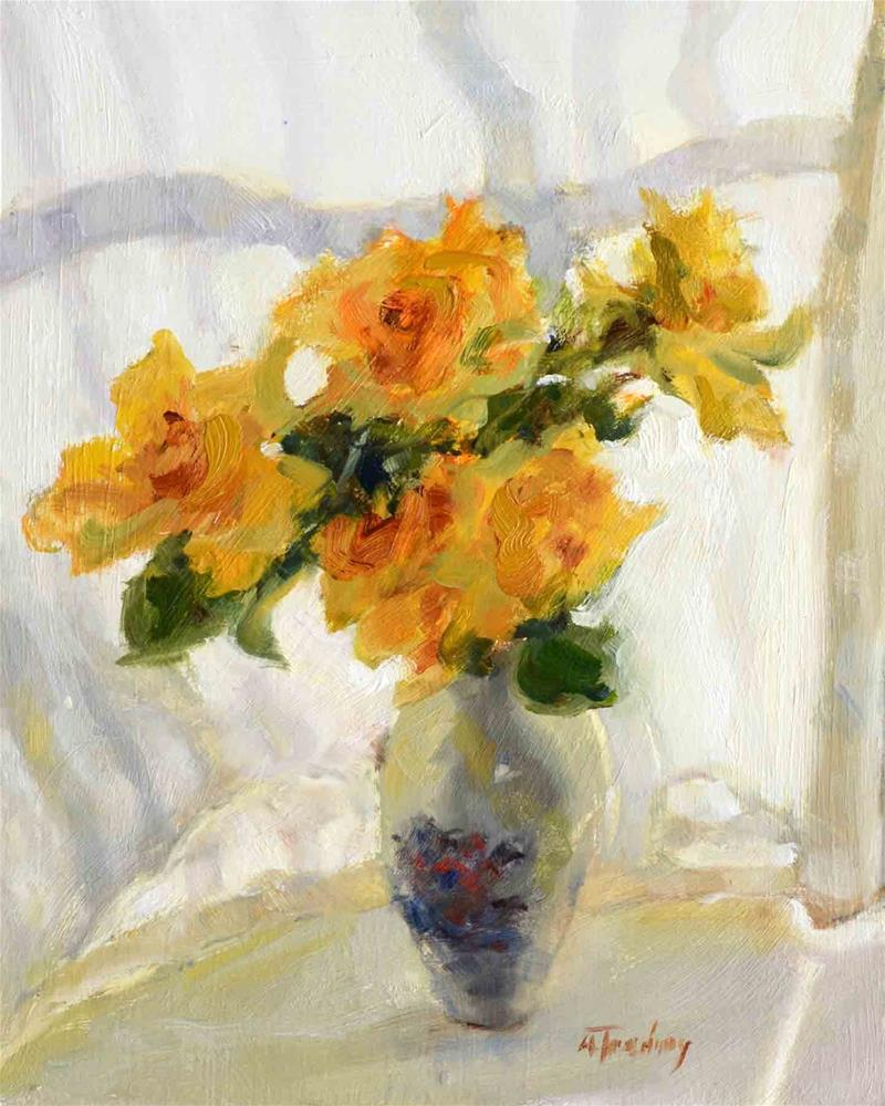 """Morning Light On Roses"" original fine art by alicia tredway"