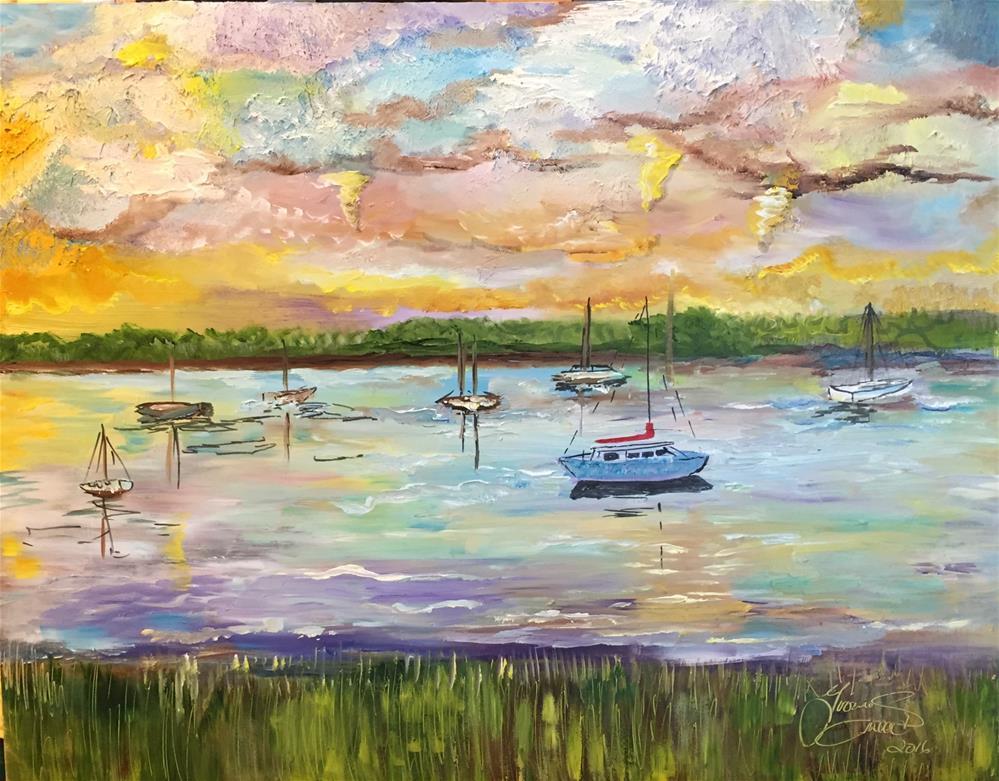 """Southport Yacht Basin"" original fine art by Yvonne  Snead"