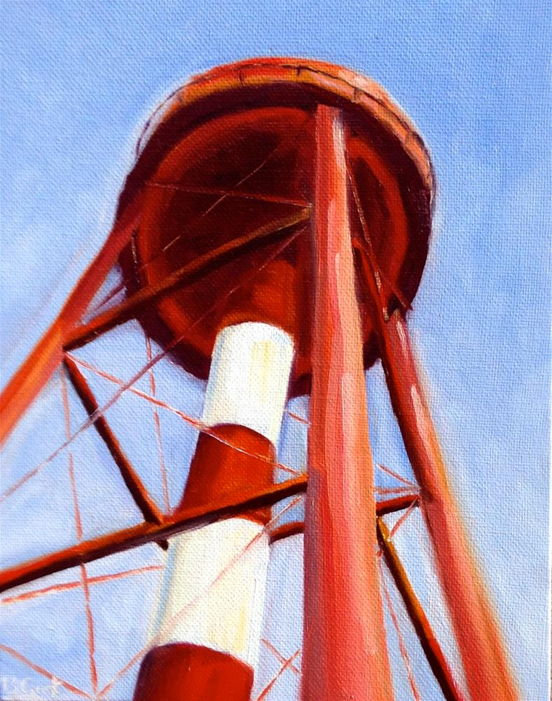 """Government Hill water tower"" original fine art by Bobbie Cook"