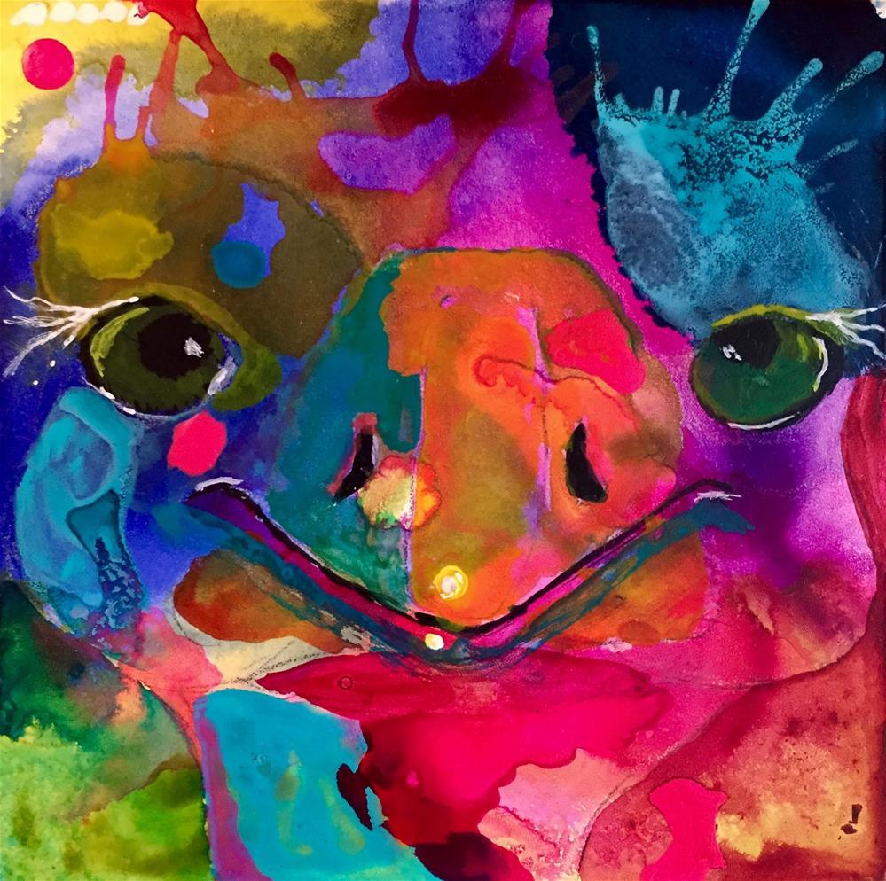"""""""#58 A Little Levity"""" original fine art by Silke Powers"""