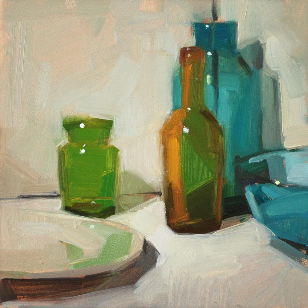 """Empty Bottles"" original fine art by Carol Marine"