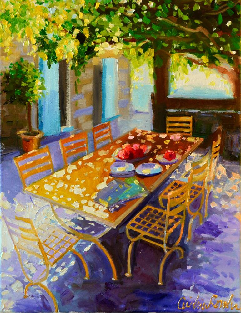 """PROVINCIAL TABLE"" original fine art by Cecilia Rosslee"