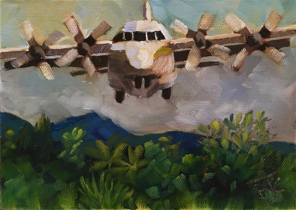 """Jungle Landing"" original fine art by Bobbie Cook"