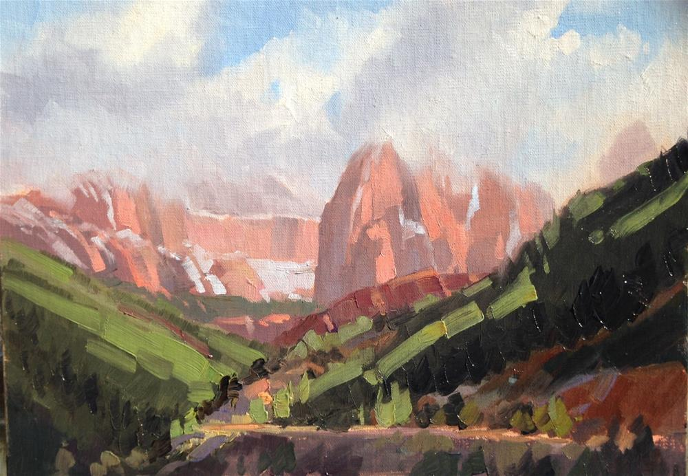 """Fog Over Kolob Canyons"" original fine art by Mary Jabens"