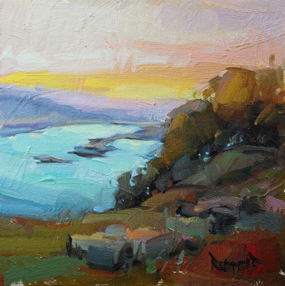 """Sunset From Maryhill"" original fine art by Cathleen Rehfeld"