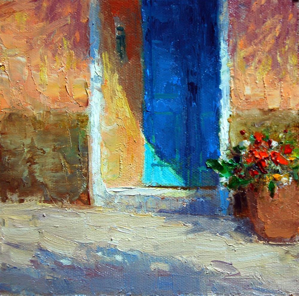 Doorway Shadow original fine art by Julie Ford Oliver