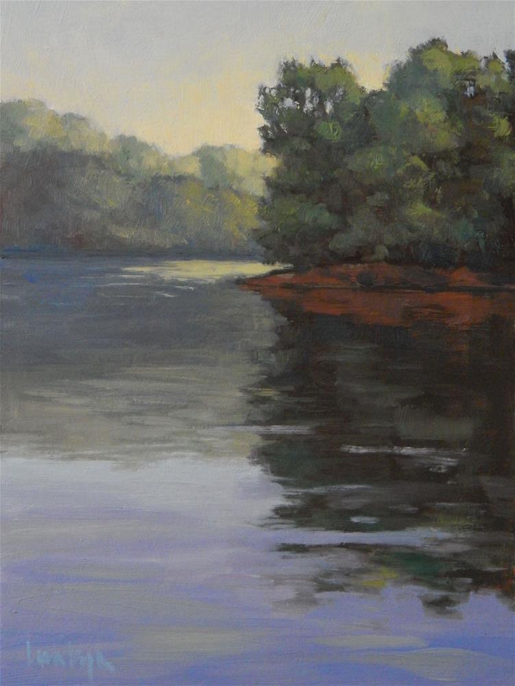 """Quiet Morning, River Bend Park"" original fine art by Lisa Kyle"