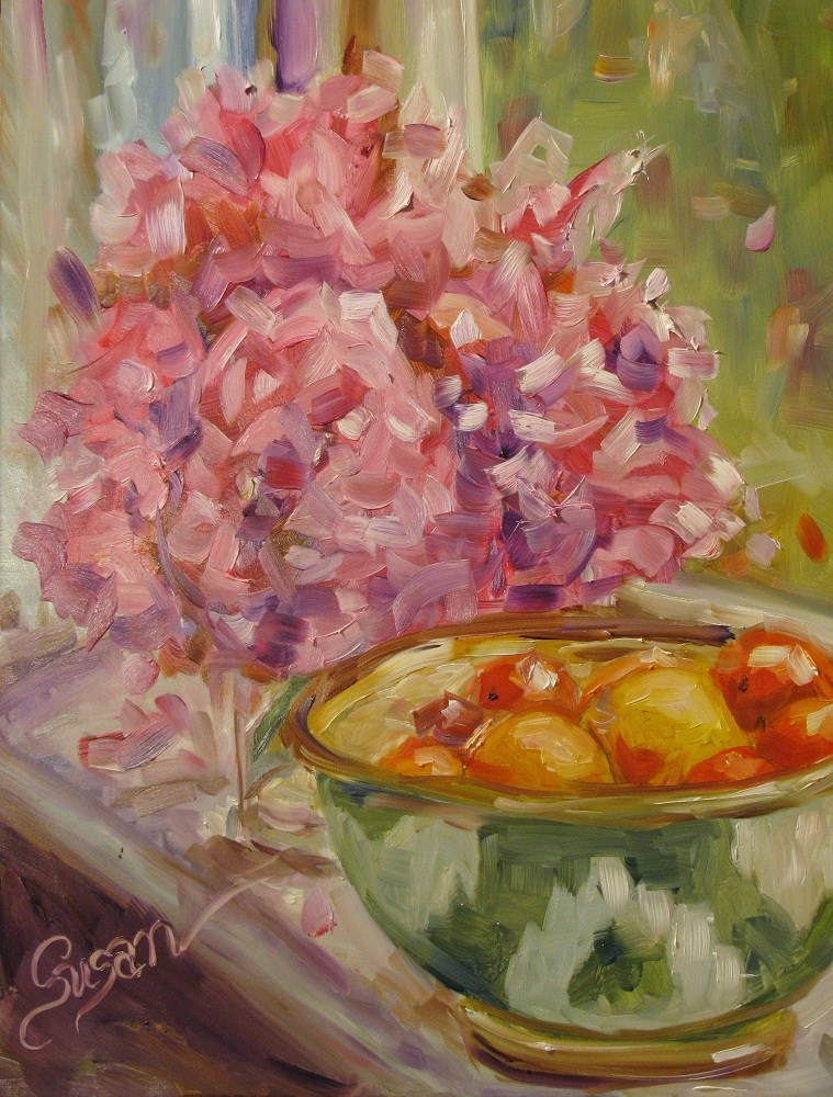 """Miss Ethel's Peonies"" original fine art by Susan Elizabeth Jones"