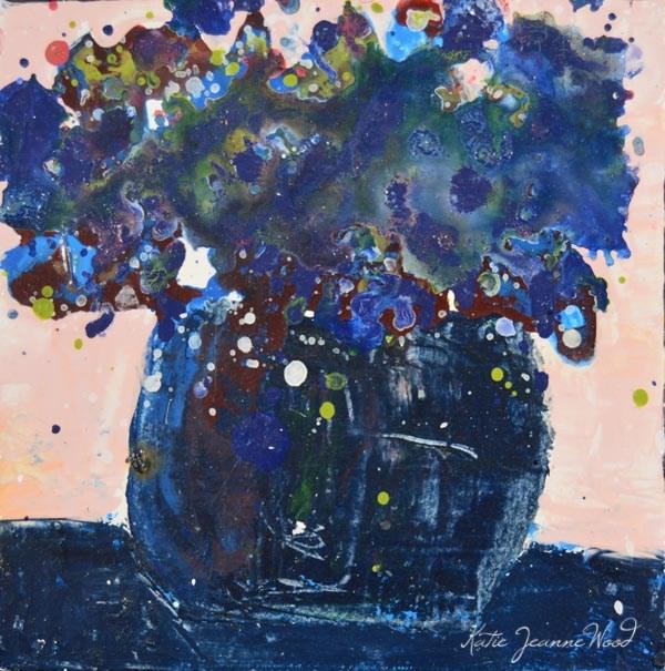 """Floral 241"" original fine art by Katie Jeanne Wood"