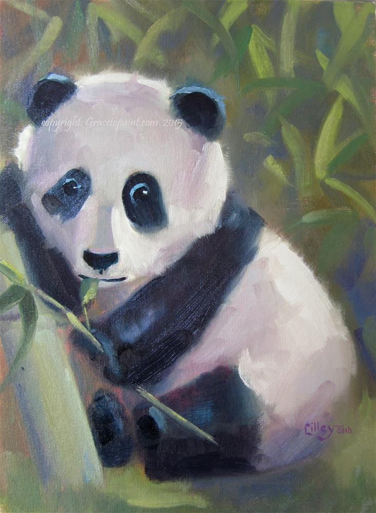 """Baby Panda"" original fine art by Maresa Lilley"