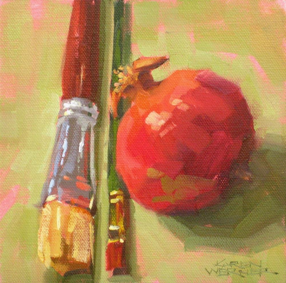 """Paint Me Pomegranate"" original fine art by Karen Werner"