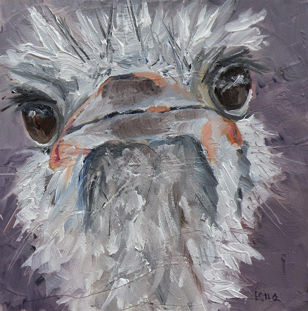 """S' UP an OSTRICH FOR MY ETSY SHOP © SAUNDRA LANE GALLOWAY"" original fine art by Saundra Lane Galloway"