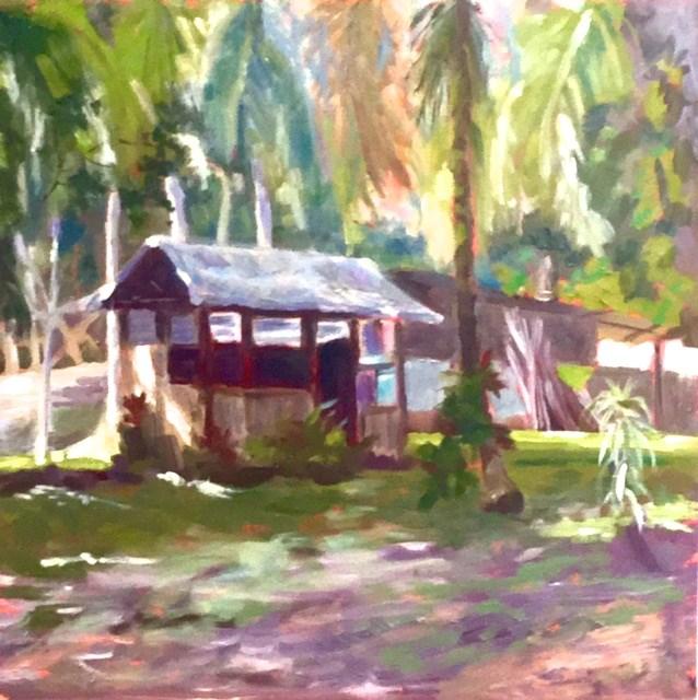 """In the Rain Forest"" original fine art by Judy Elias"
