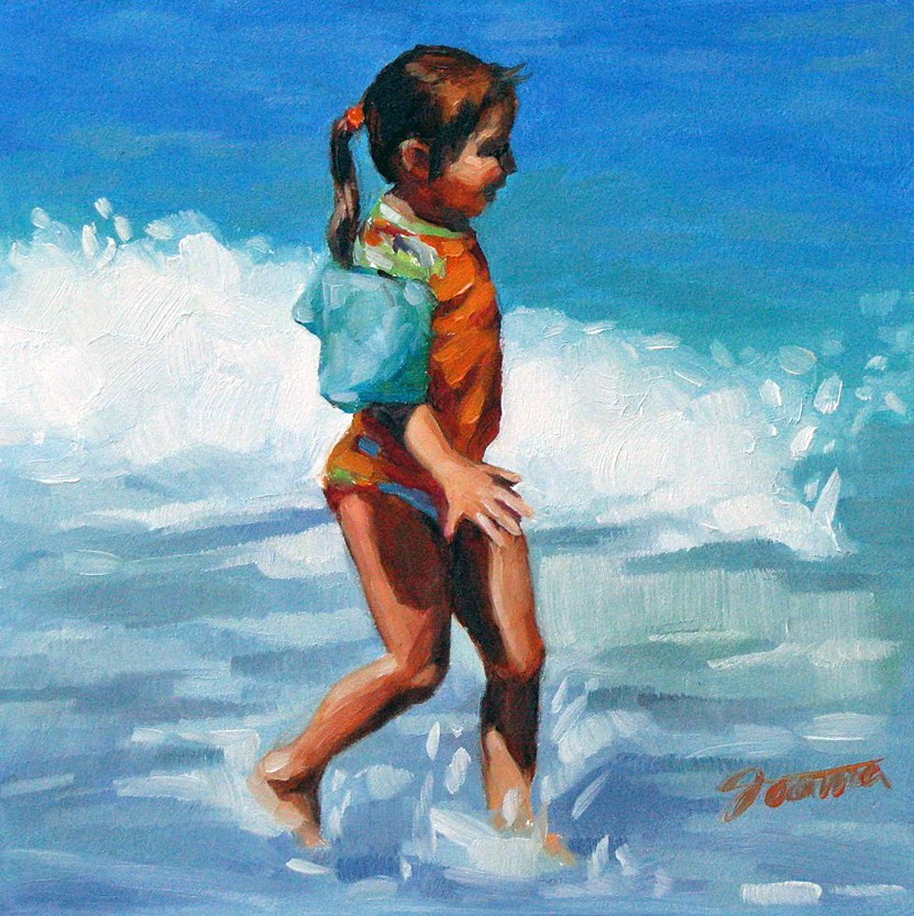 """Excited Ponytail"" original fine art by Joanna Bingham"
