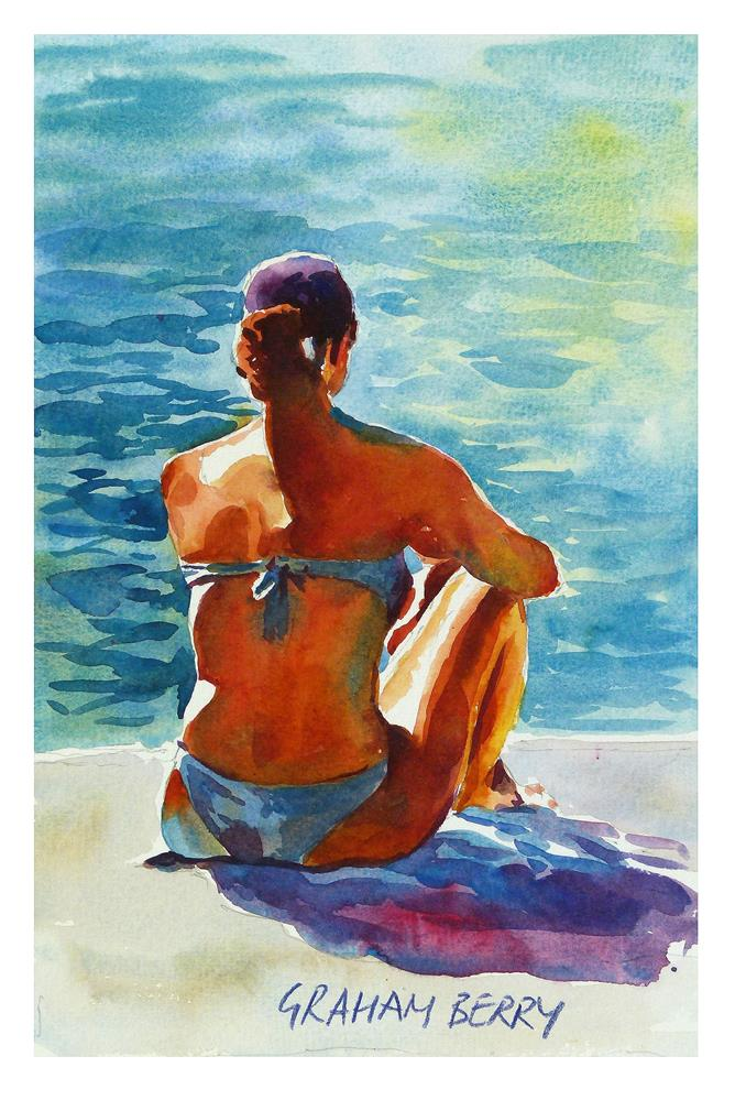 """Sunbathing."" original fine art by Graham Berry"