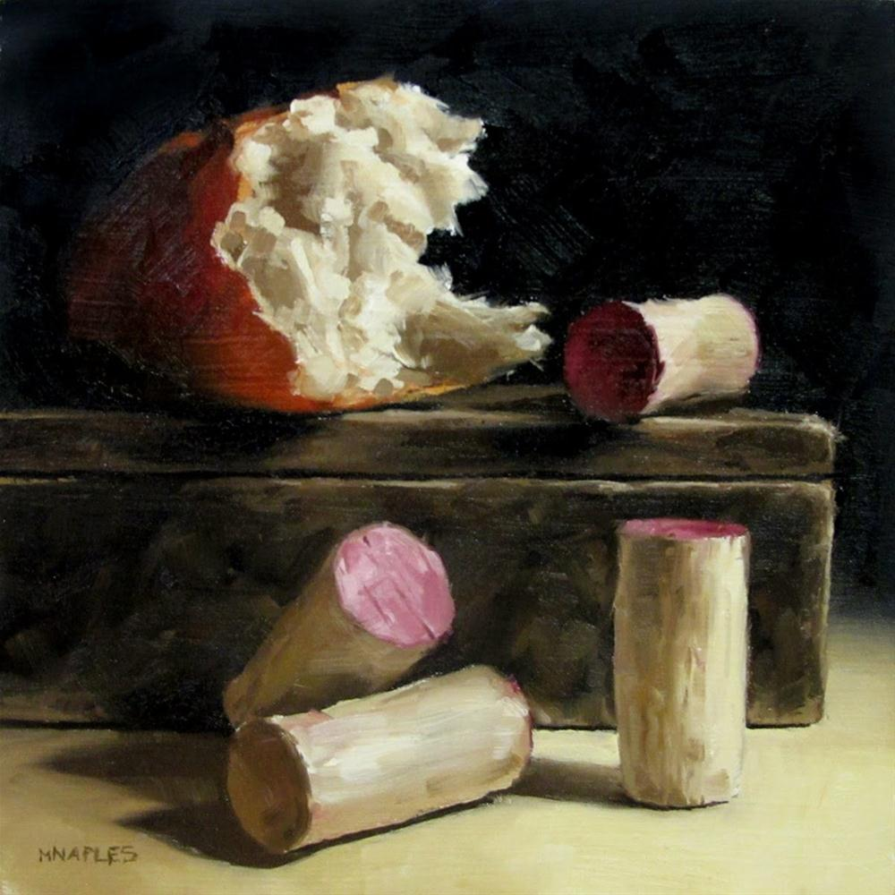 """Broken Bread with Corks"" original fine art by Michael Naples"