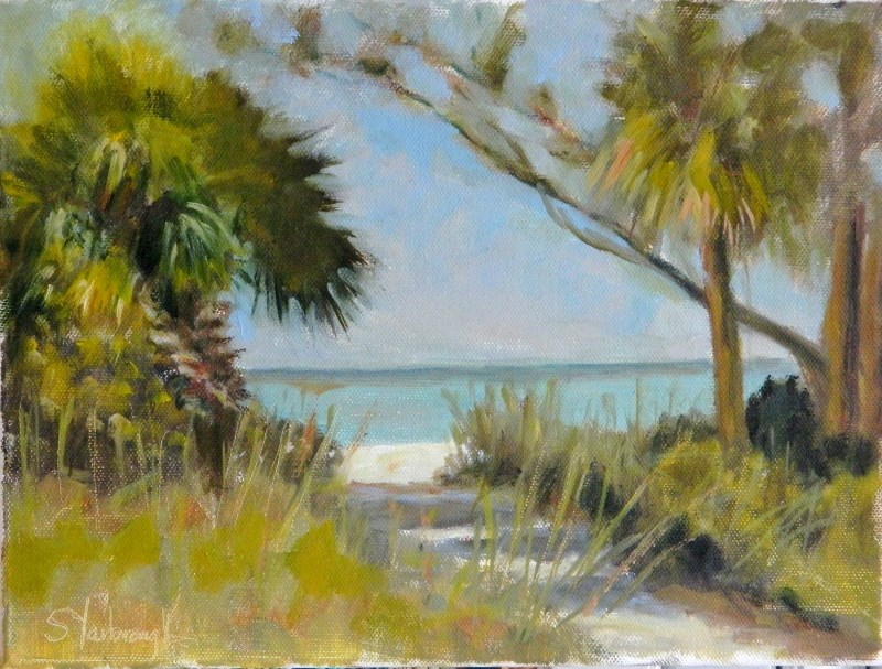 """Path to the Beach"" original fine art by Sharon Yarbrough"