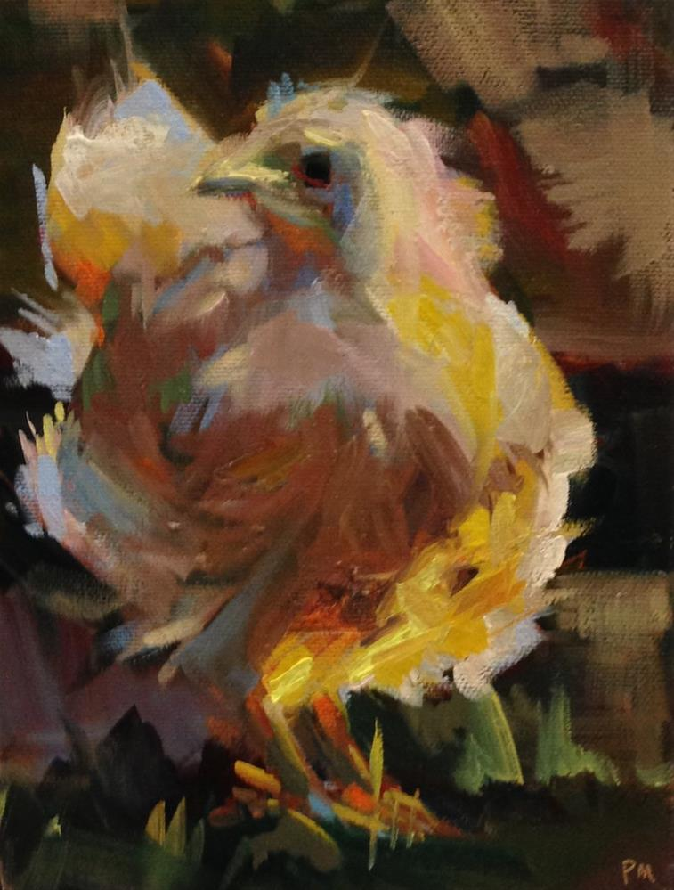 """Baby Buff Orpington Bed-Head"" original fine art by Patti McNutt"