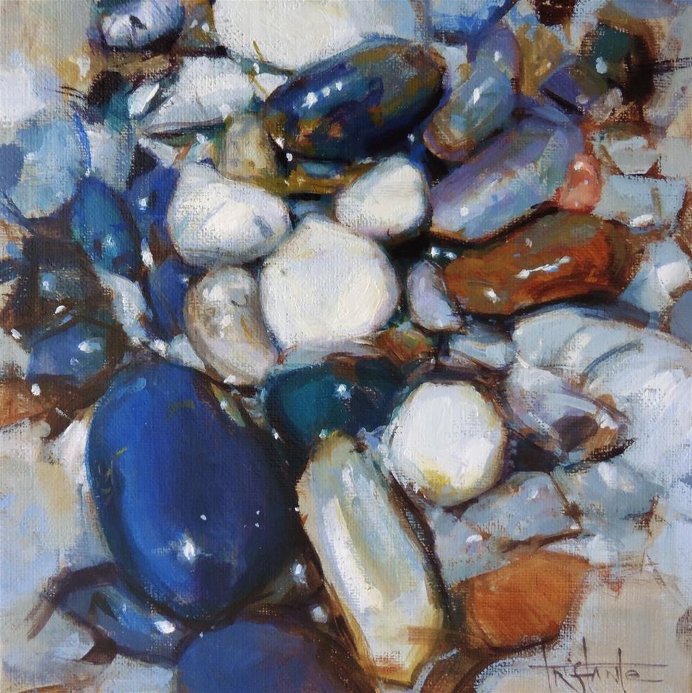 """Stone landscape #2"" original fine art by Víctor Tristante"