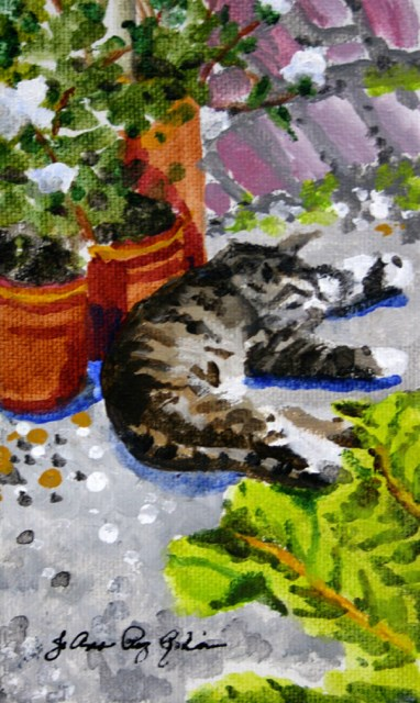 """Afternoon Nap"" original fine art by JoAnne Perez Robinson"