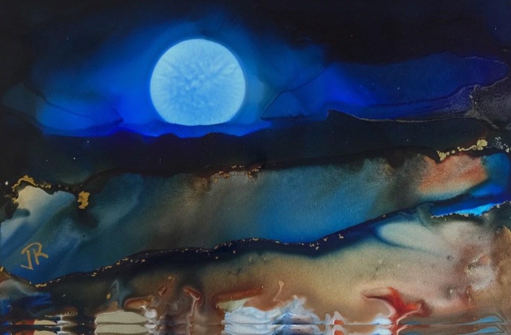 """Dreamscape No. 677"" original fine art by June Rollins"