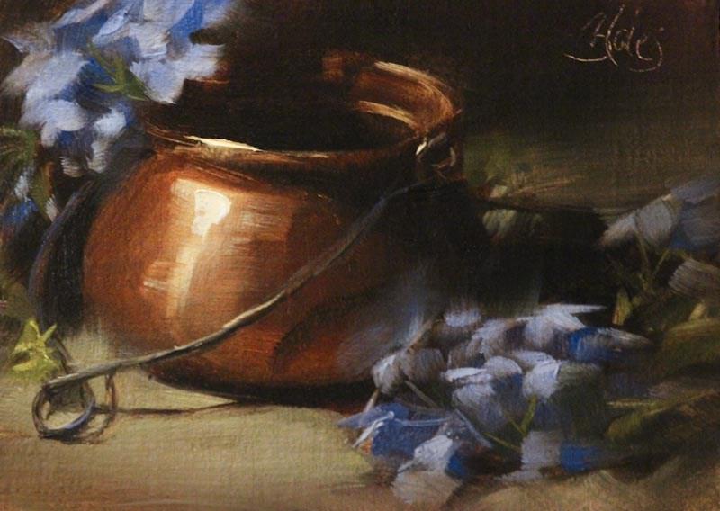 """Copper and Blue"" original fine art by Pamela Blaies"