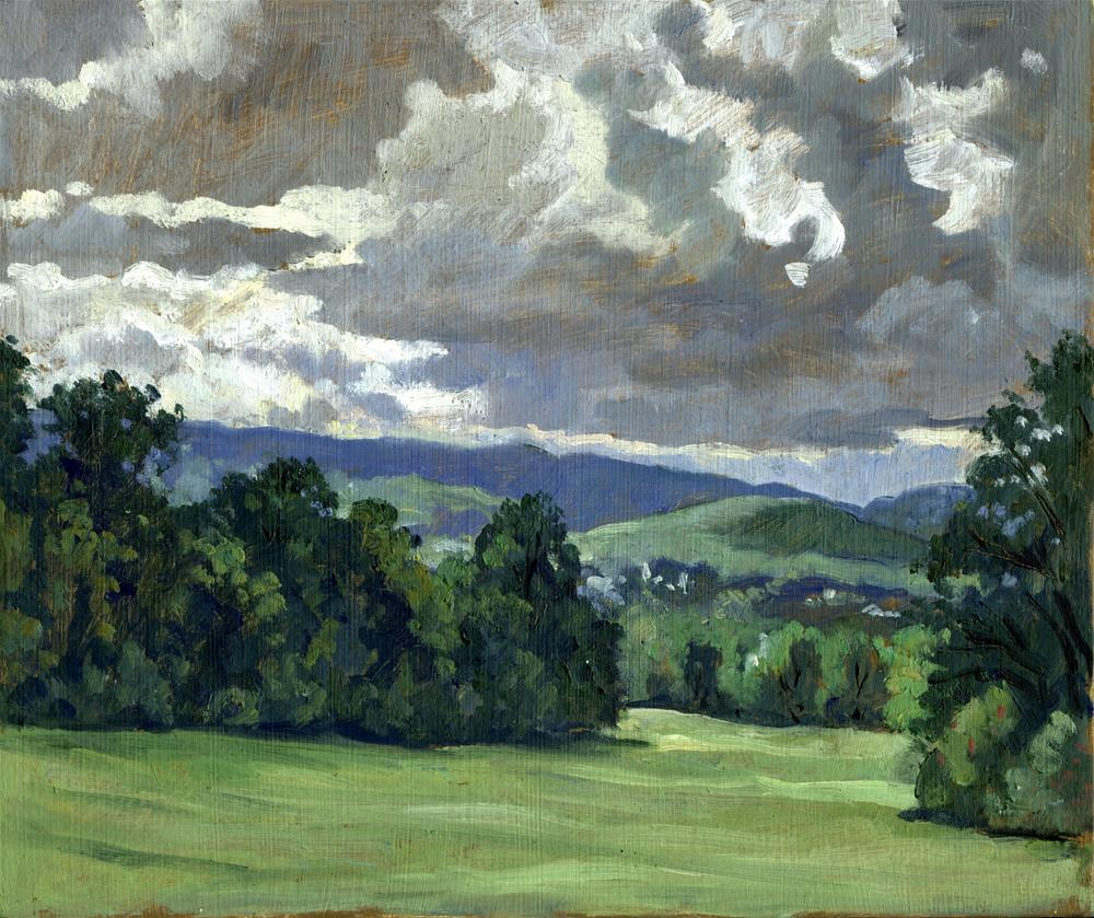 """Summer Clouds, Berkshires"" original fine art by Thor Wickstrom"