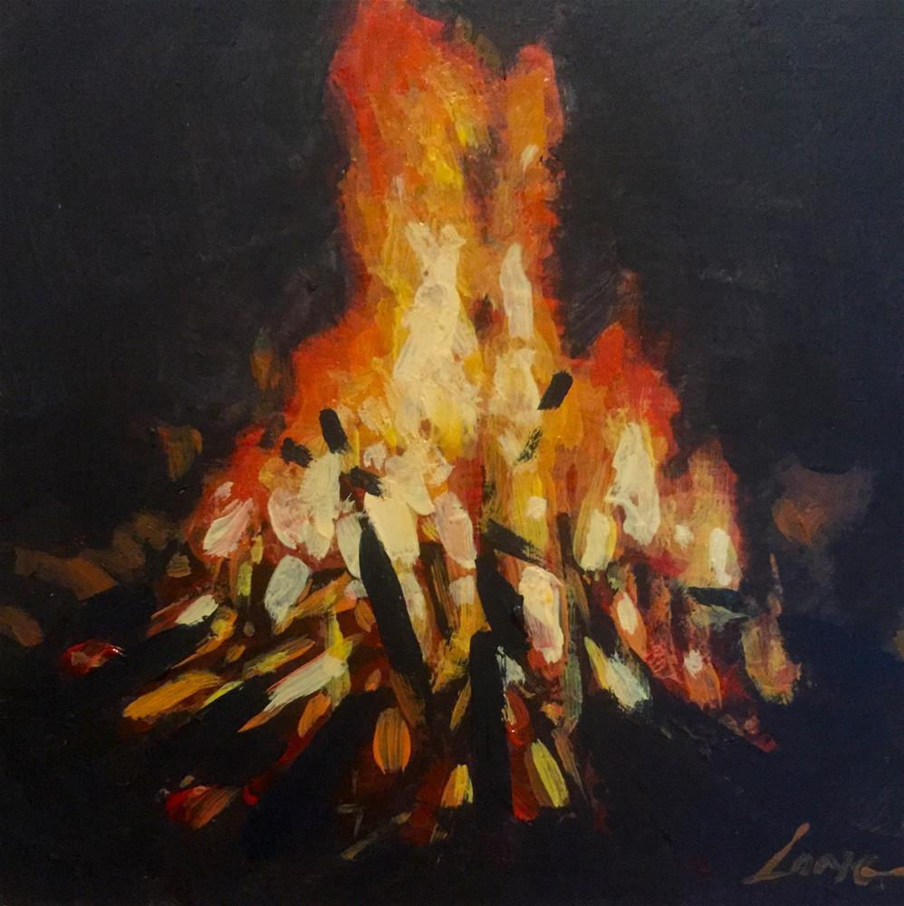 """Campfire"" original fine art by Chris Long"