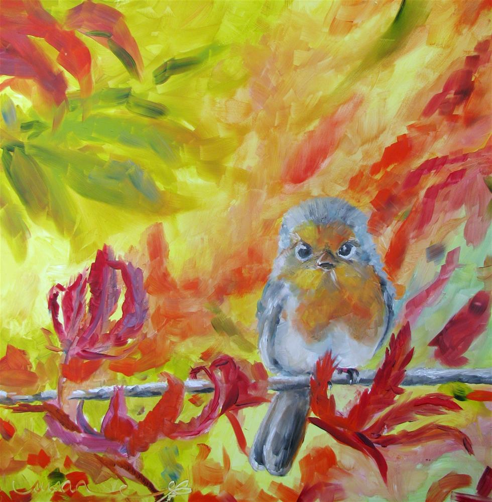 """My little Titmouse"" original fine art by Susan Elizabeth Jones"