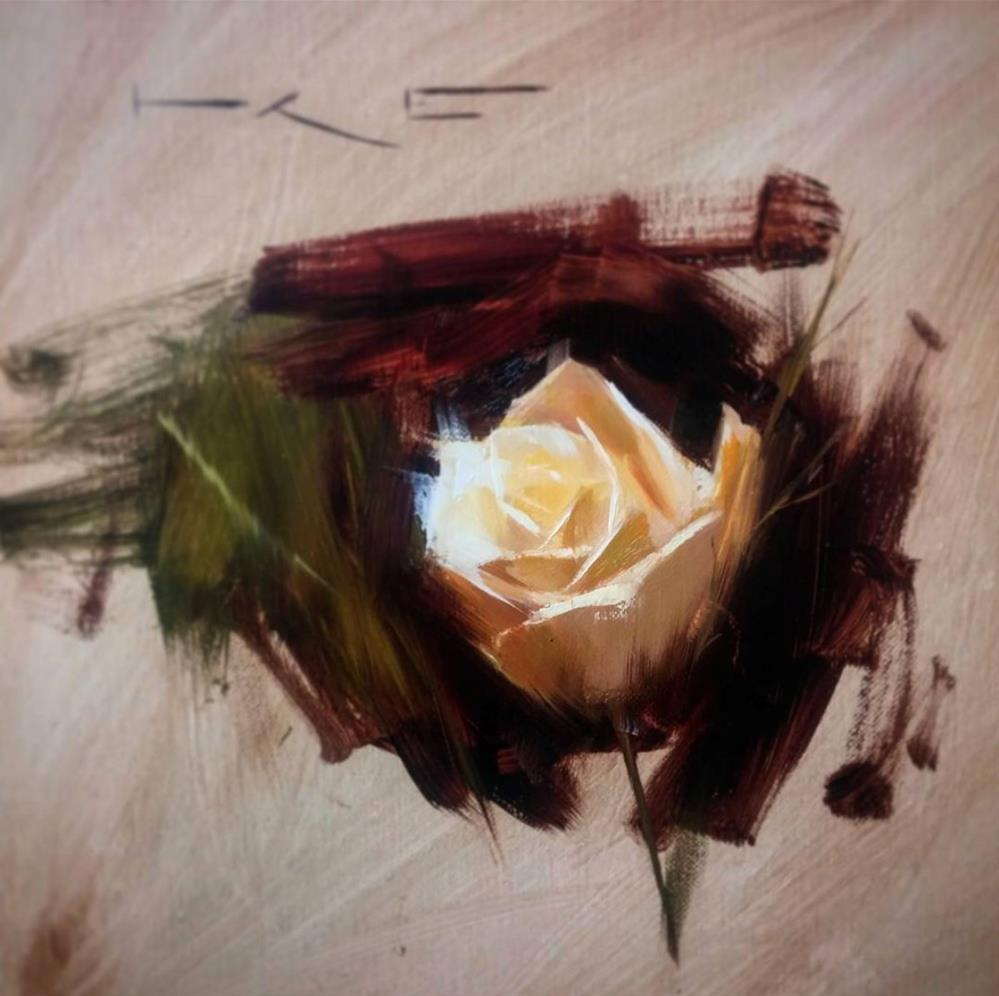 """White Rose study"" original fine art by Thorgrimur Andri Einarsson"
