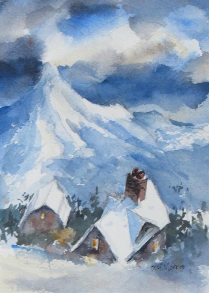 """Another Snow Day"" original fine art by Dann Morris"