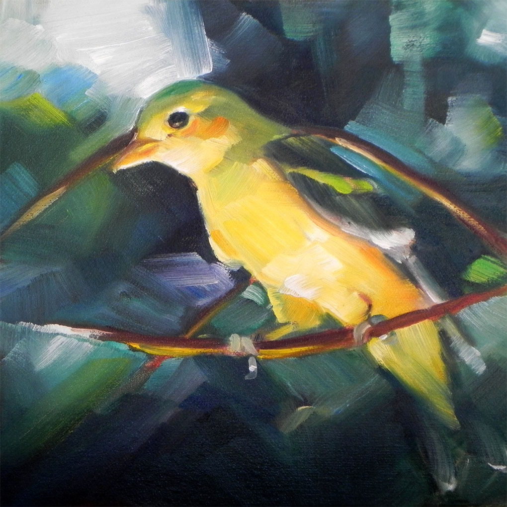 """Western Tanager"" original fine art by Cheryl Wilson"