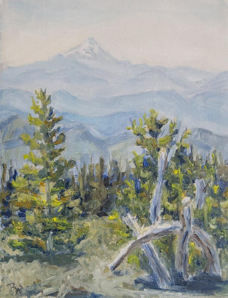 """View from Timberline"" original fine art by Rachel Steely"