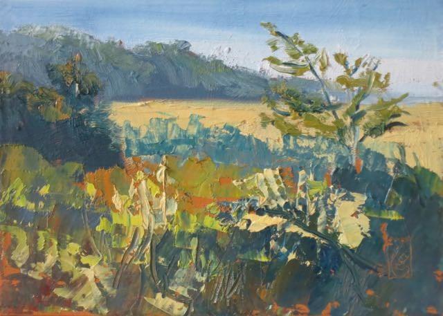 """""""Marsh Morning"""" original fine art by Lucinda Howe"""