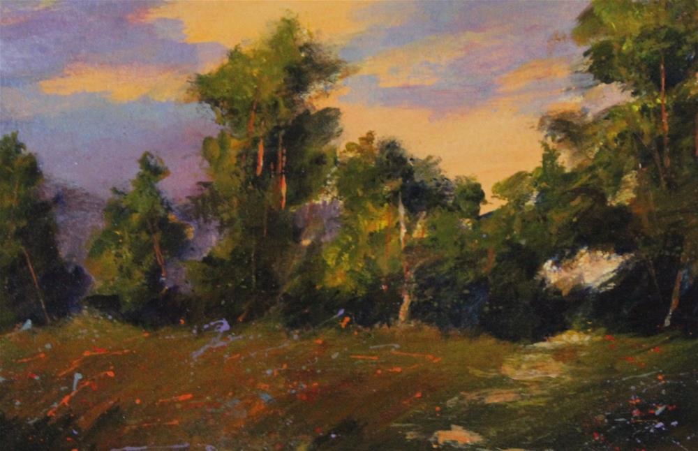 """Original acrylic meadow landscape flower painting"" original fine art by Alice Harpel"
