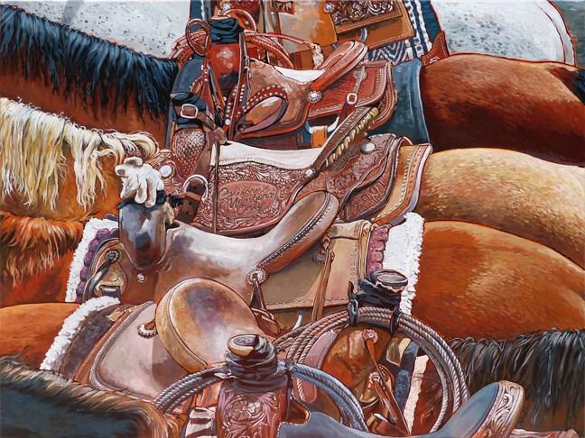 """California Members Only"" original fine art by Nadi Spencer"
