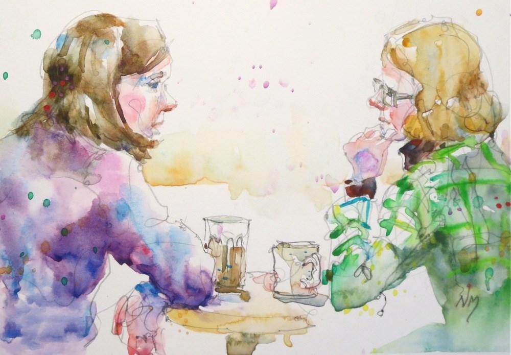 """talk to"" original fine art by Nora MacPhail"