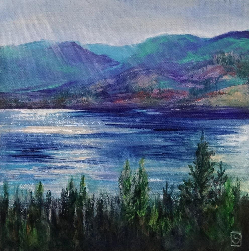 """""""5099 - Across the Lake II"""" original fine art by Sea Dean"""